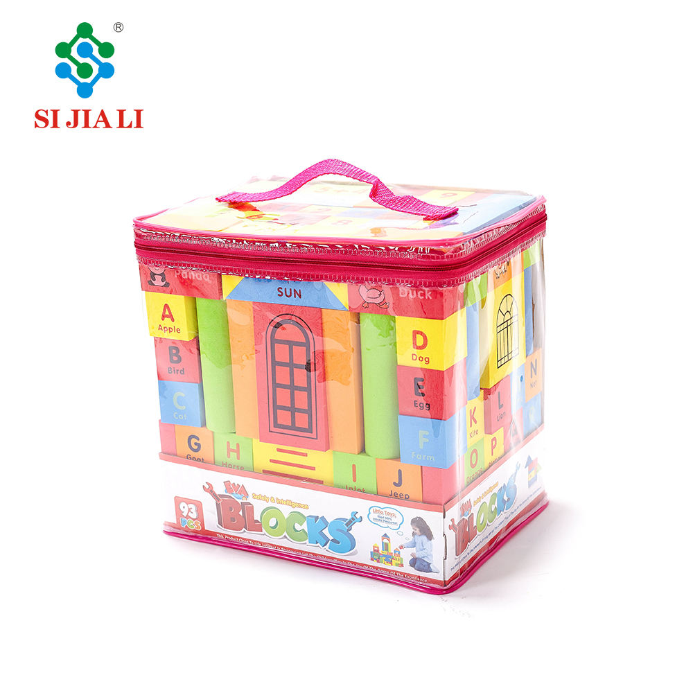 Sijiali <span class=keywords><strong>fabricante</strong></span> impresión <span class=keywords><strong>espuma</strong></span> <span class=keywords><strong>EVA</strong></span> niños bloques <span class=keywords><strong>de</strong></span> construcción juguetes 93 unids
