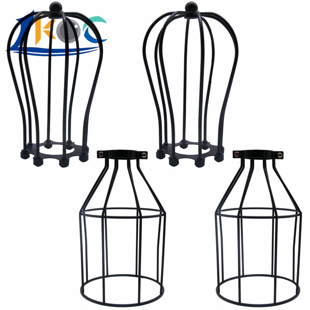 Iron Wire Guards Bulb Lamp Shade Metal Lamp Cage Light Lampshade