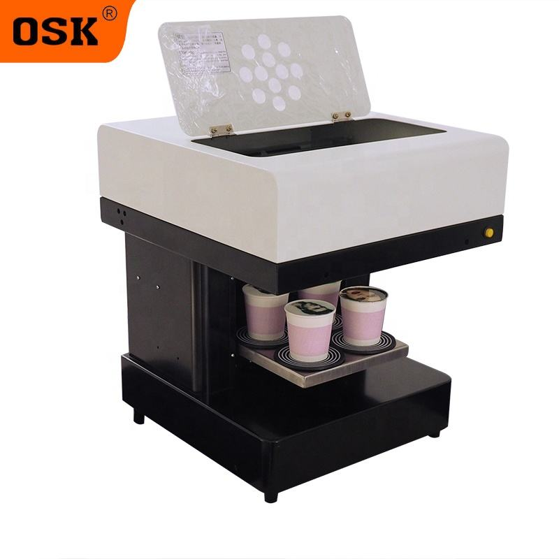 4 cup latte art printing machine coffee art printer with Edible ink with 803 Ink Cartridge