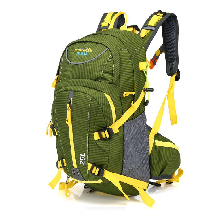 Water resistant nylon internal frame hiking backpack outdoor sports camping bag for wholesale