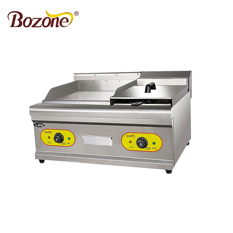 E-GF851 Stainless Steel Large Size Commercial Hotel Restaurant Supplies Counter Top Electric Griddle With Gas Fryer