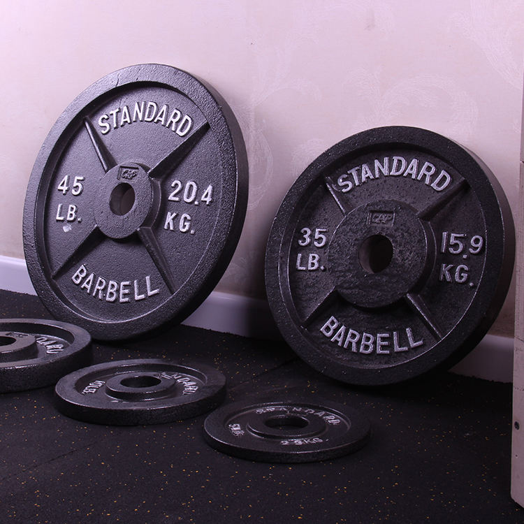 Hot sale grey cast iron baking gym barbell weight plate 10,15,20,25,30LB