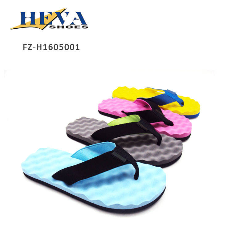 Unisex Wave Massage insole Non-slip bathroom SPA flip flops