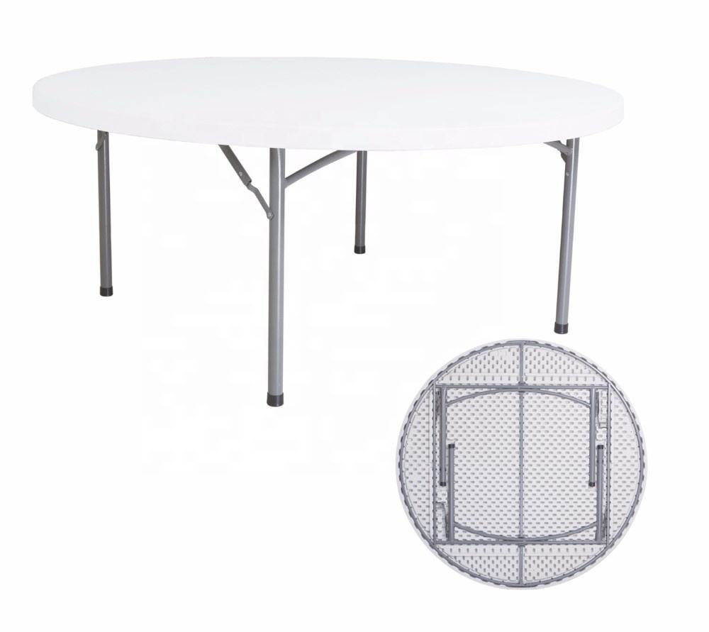 HM-R160 10 people plastic round folding table outdoor banquet table for wedding party for sale