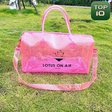 Customize Transparent Holographic TPU Duffel Bag with Logo Factory Price for Clear PVC Hologram Pink Duffel Bag Laser