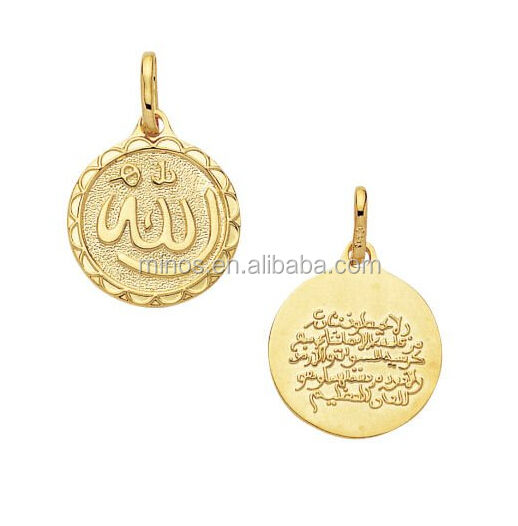 Stainless steel emas muslim medali <span class=keywords><strong>liontin</strong></span>, 18 k berlapis emas allah islam muslim medali <span class=keywords><strong>liontin</strong></span>