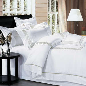 White Luxury EmbroideredGoose Down Double Quilted Bedspread