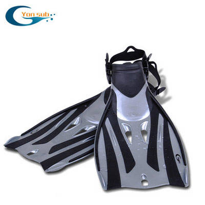 High quality adjustable silicone rubber underwater diving swim fins