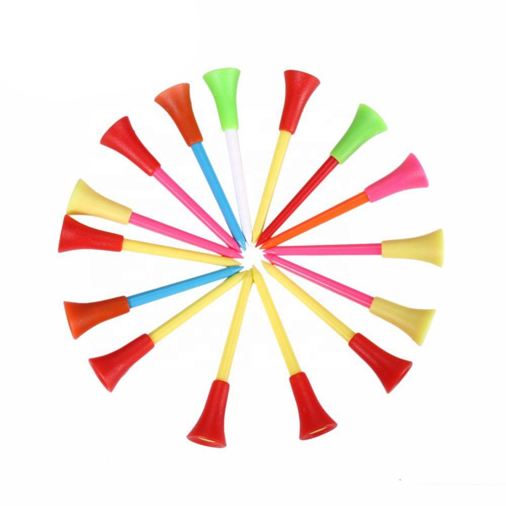 Factory wholesale high quality cheap colour plastic golf tees