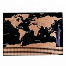 Scratch World Map Poster Personalized Custom Travel Vacation Log Gift Large Size World Map