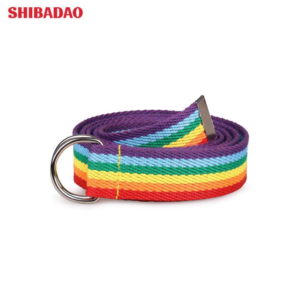 Women Men Unisex Elastic Braided Stretch Woven Fashion Fabric Belts Nylon Leisure Belts