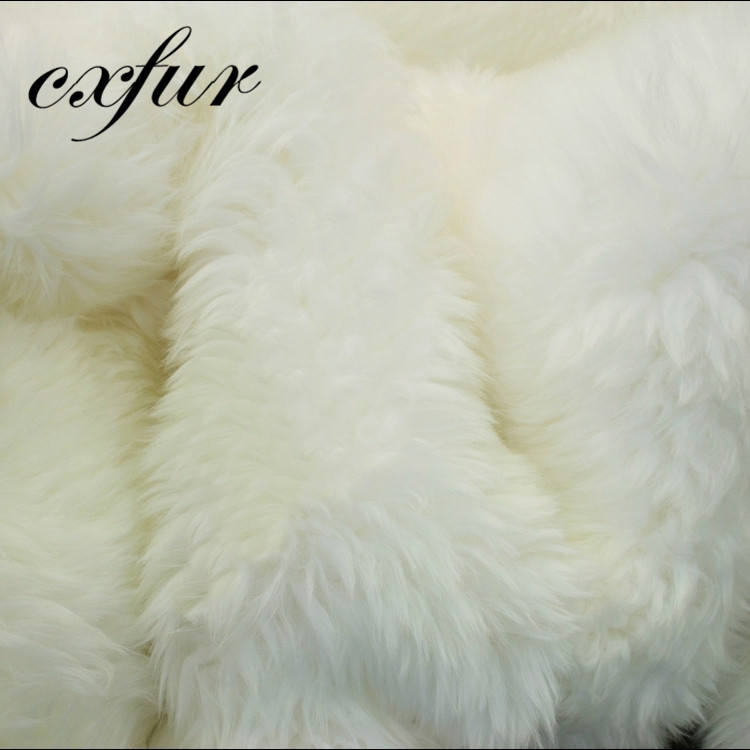 Sheep Pelt Fur Pelt Fur Fur CX-D-120 Full Pelt Blanket Australia Skin White Sheep Fur Plate
