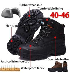 Hot New Plus Size Outdoor Steel Toe Work boots Safety Shoes
