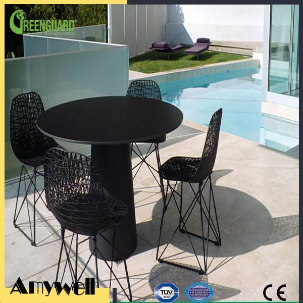 Amywell waterproof exterior phenolic laminate table hpl outdoor furniture