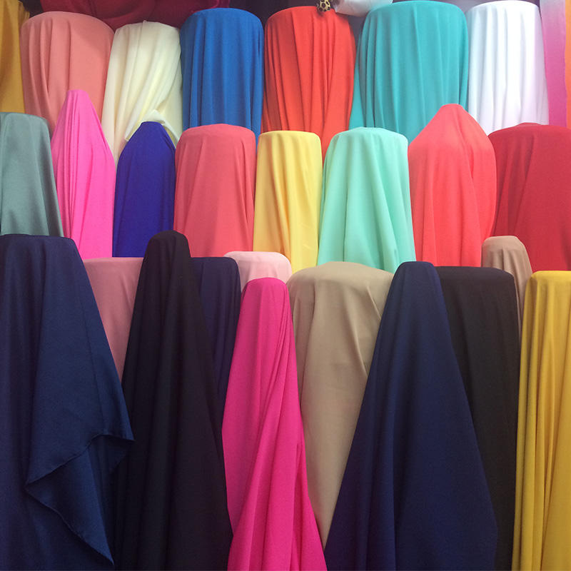 Inventory wholesale chiffon dyed fabric A grade chiffon dyed fabric for dress