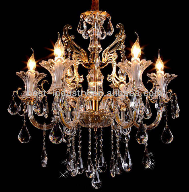 2013 Noble & Luxury Crystal Light Flavors, Modern Chandelier Light Fixture Parts MDS59-L6