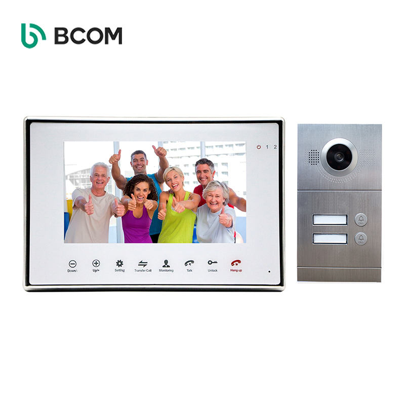 Best Seller Stable Multi-family Multi Room Water Proof Video Intercom Doorbell With Transfer Call Function For 2-Apartments