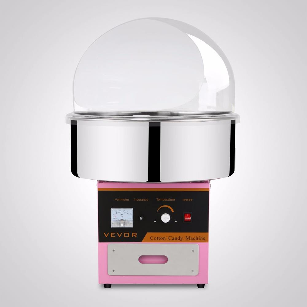 New Electric Cotton Candy Machine Pink Floss Carnival Commercial Maker Party Candy Floss Machine with Cover
