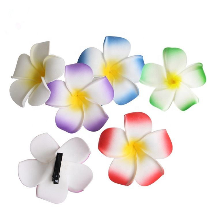 Bridal Wedding Party Strand <span class=keywords><strong>Haar</strong></span> Clips Hawaiiaanse <span class=keywords><strong>Bloem</strong></span> <span class=keywords><strong>Haar</strong></span> Foam <span class=keywords><strong>Bloem</strong></span> Clips