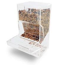 Transparent Classic Gravity Acrylic Bulk Food and Bird Seed Feeder