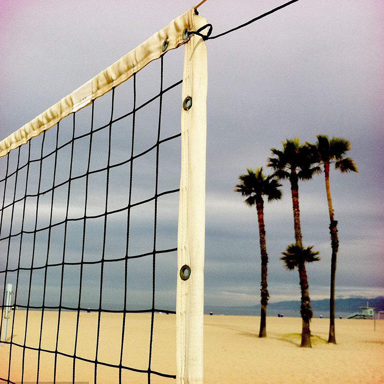 Beach Volleyball Nets With Steel Cable Rope