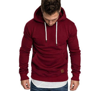 In Stock New Style Autumn and Winter Various Cheap Men's Solid Color Hooded