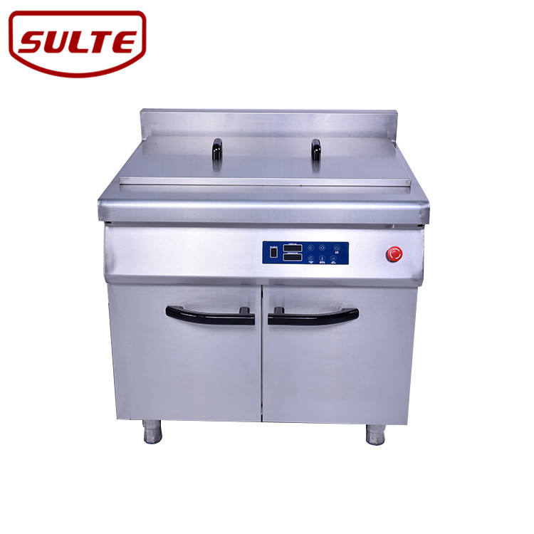 Commercial continuous fryer machine induction potato chips deep fat fryer