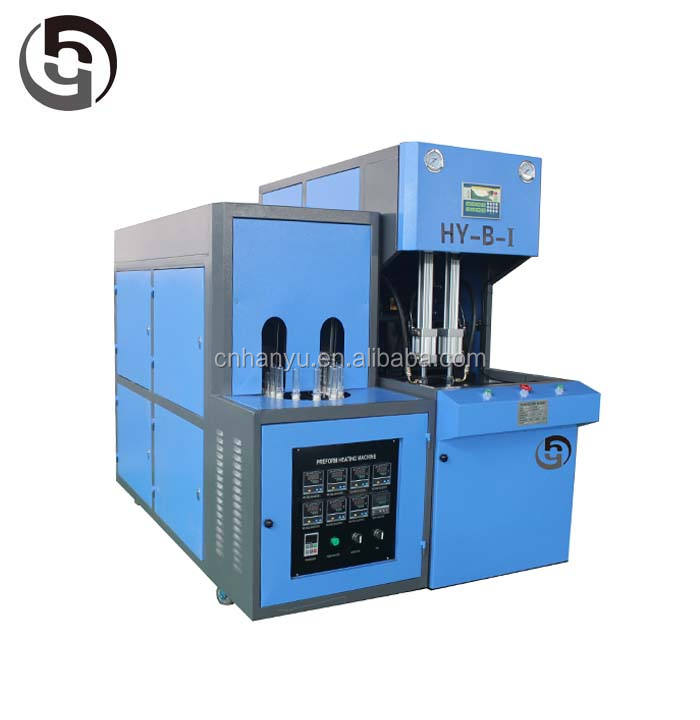 Semi-automatic 500ml 1500ml PET /PC/PP bottle 2 cavity blow molding machine/900BPH blow molding machine
