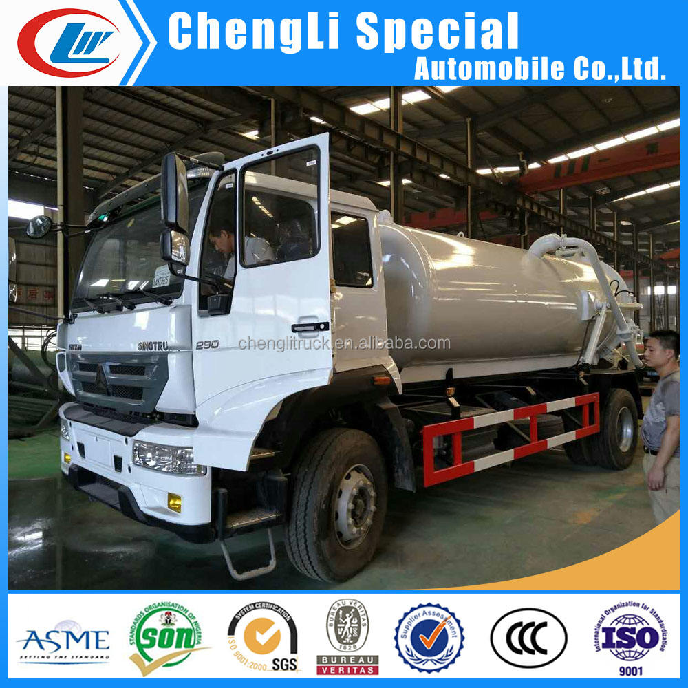 5ton sewer waste water suction tanker howo 5m3 sewage suction truck for sale