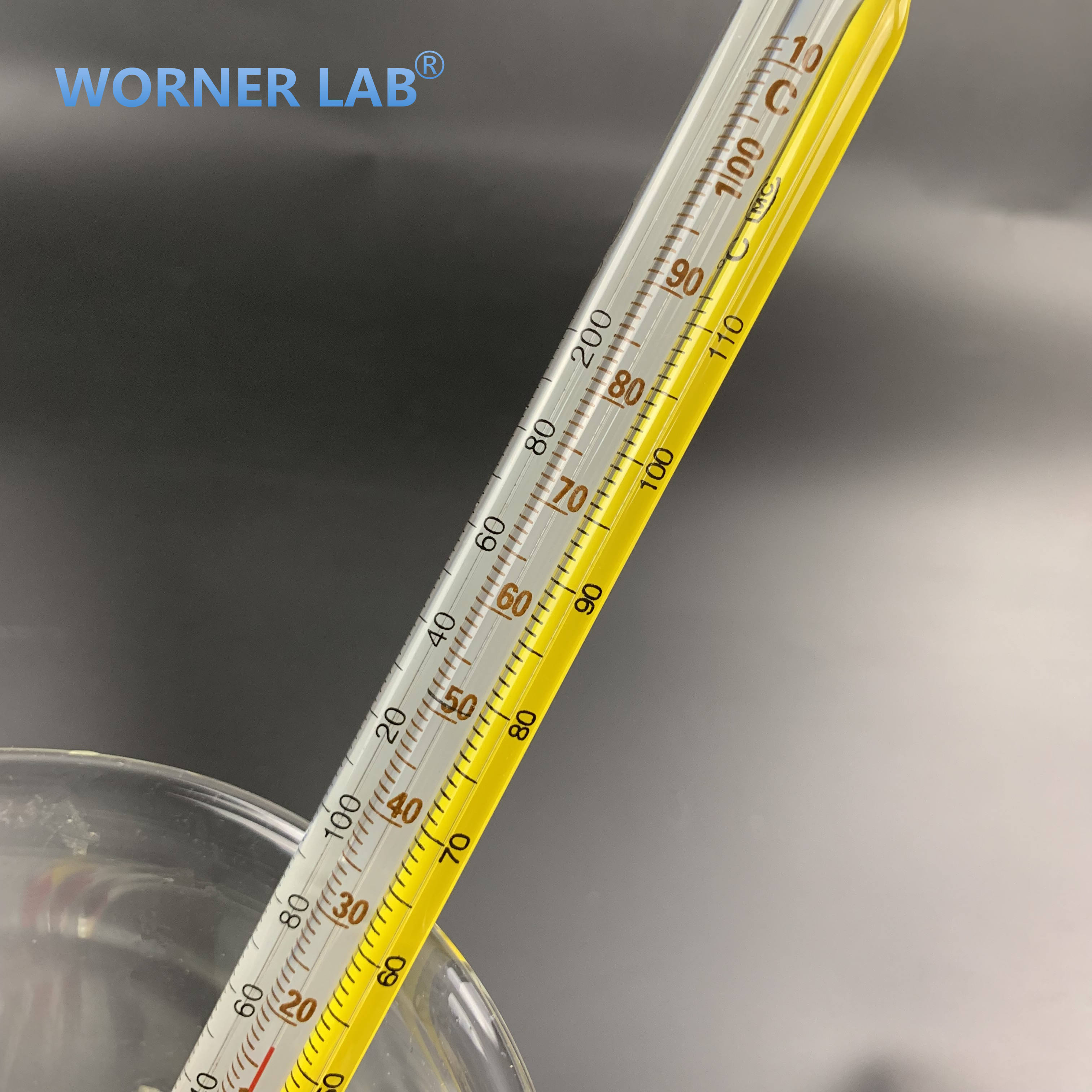 Laboratory thermometer glass tube