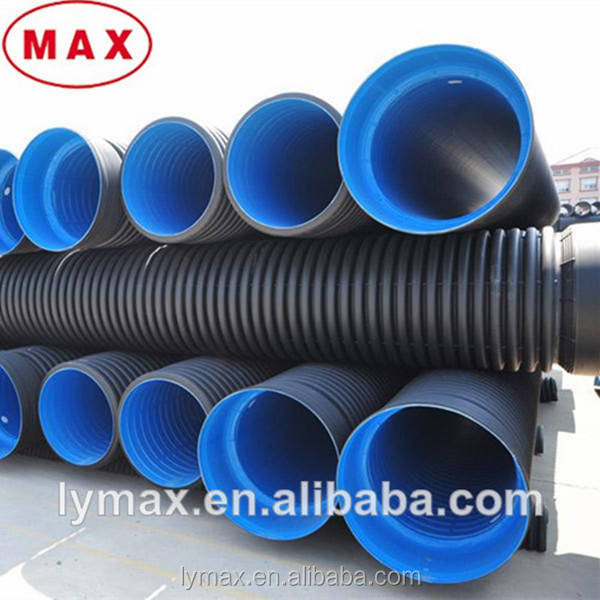GB/T19472.1-2004 Standard 8inch-40 inch HDPE Corrugated Perforated Pipes for Drainage