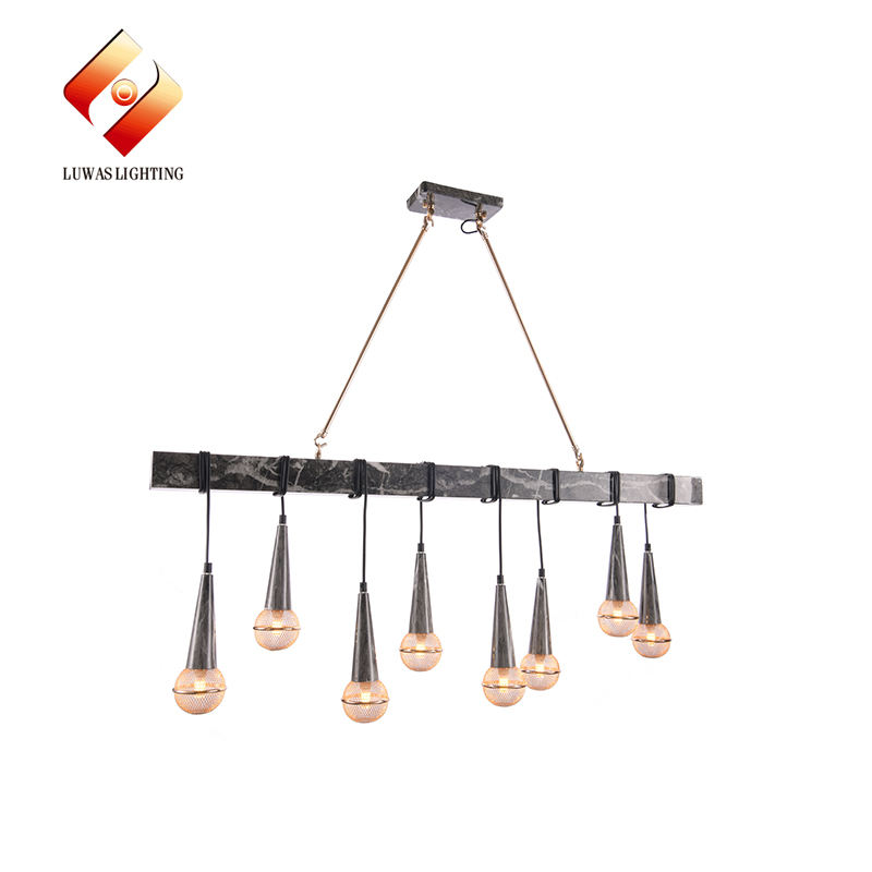 Exquisite iron material 8 lamp heads 40w luxury modern ceiling chandelier
