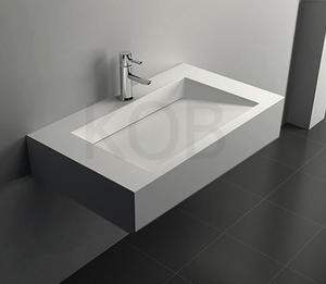 Trough sinks/solid surface bathroom wash basin