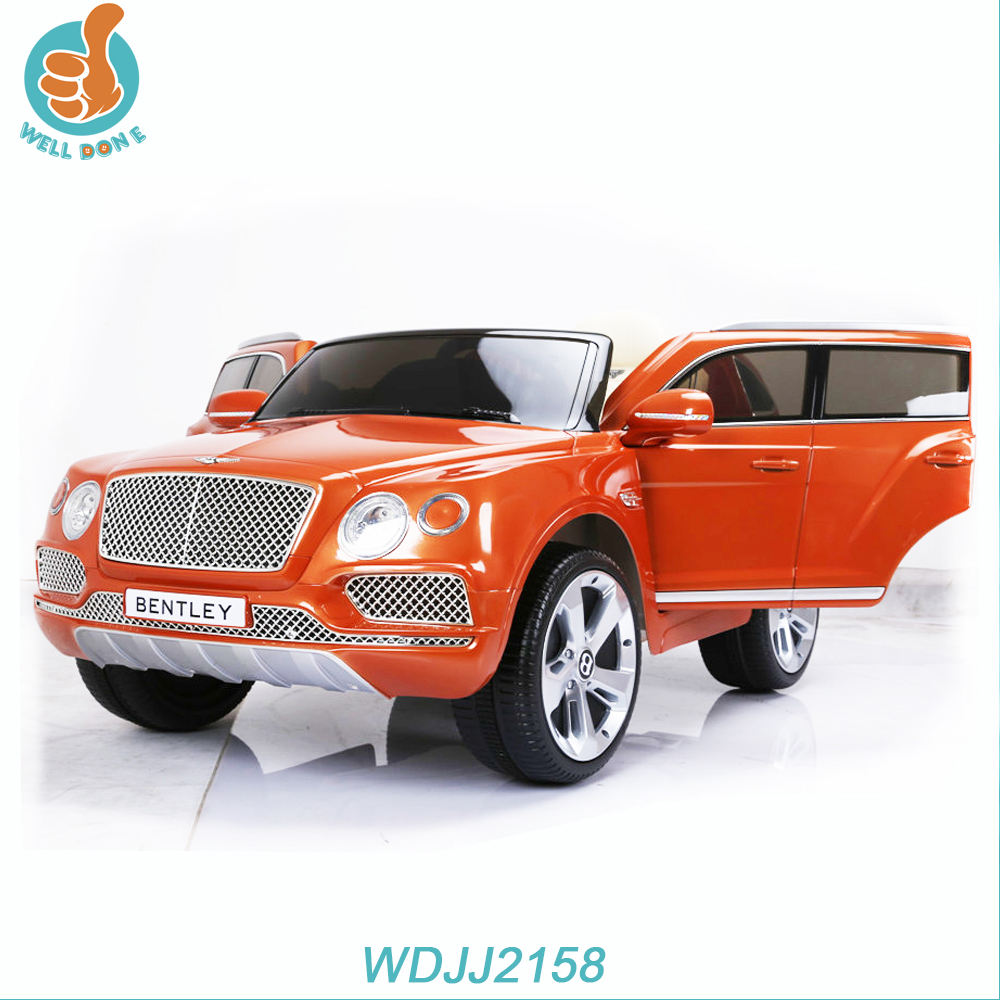 WDJJ2158 Licensed New Model Ce Approved Baby Equipment Car Paint Children Manual Ride On Car With Music And Led Lights