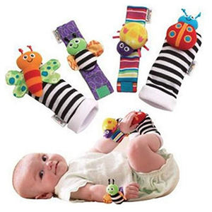 Cute Animal Soft Wrist Rattles and Foot Finders Doll Baby Socks Toys