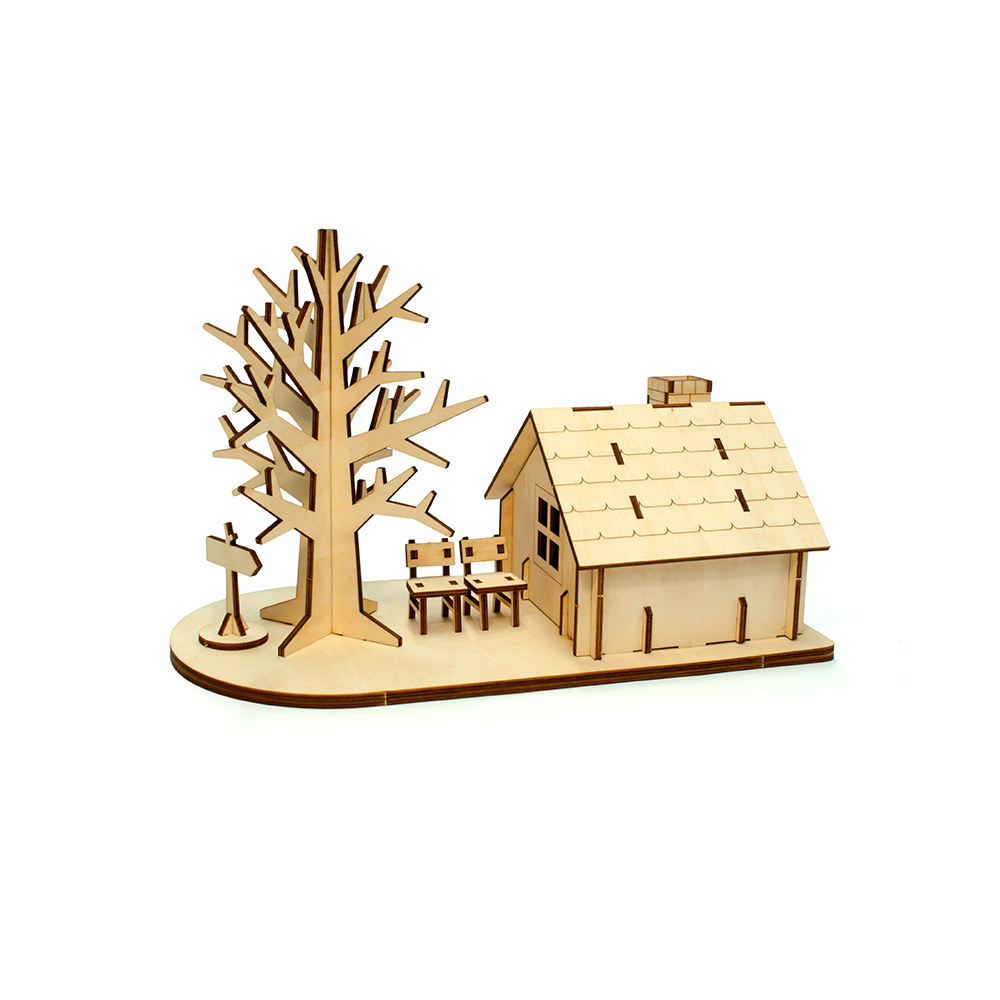 Top Quality Best Selling Tree House Wood 3D Puzzle For Friends