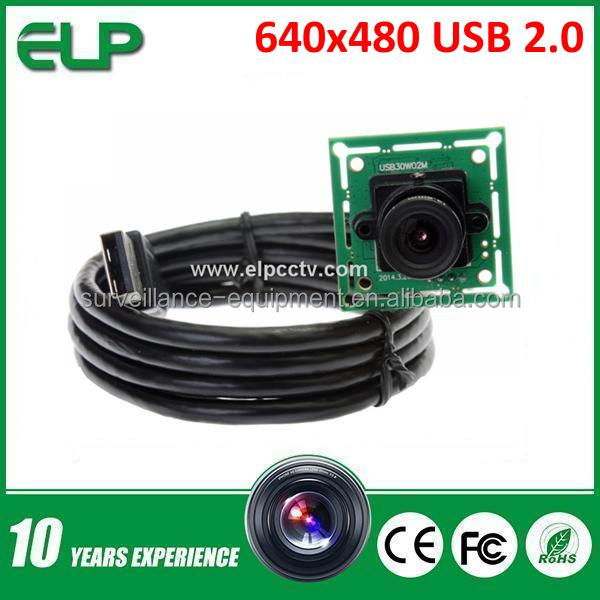 ELP Free driver 0.3Mega Pixel 30fps VGA OV7725 usb 2.0 pc webcam with 2.8mm lens