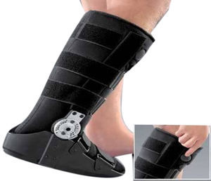 orthopedic cast boots for severe ankle sprains and strains features Walker Ankle Brace Support