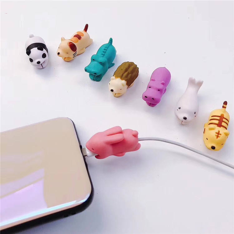 animal cable bite Luminous series Anti-break protection cable for iphone cable accessory