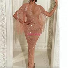 Bling Luxury Women Formal Dresses Evening Wear Fashionable Glitter Sequin Long Gowns 2020