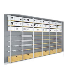 Fashion style cosmetic retail display racks wooden and metal supermarket display stand for shop
