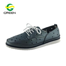 Greenshoe 2019 custom cheap casual leather shoes women flats,high quality female casual shoes,slip on women flat casual shoes