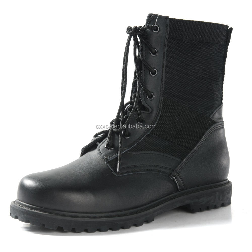 Good Quality and Breathable Military Tactical Boot with Full Grain Leather