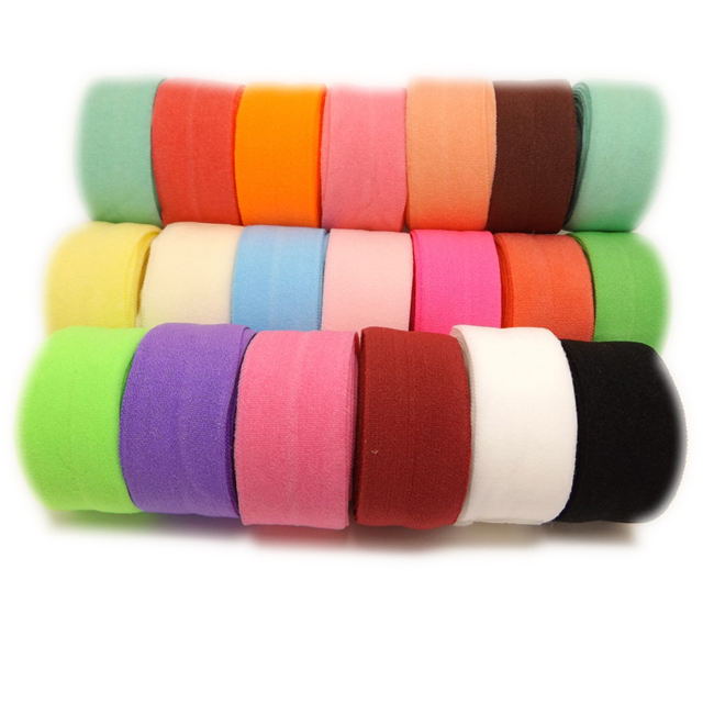 Spandex Satin Band DIY Lace Sewing Trim 20 Colors Wholesale 5 Yards 20mm Wide Multirole Fold Over Elastics