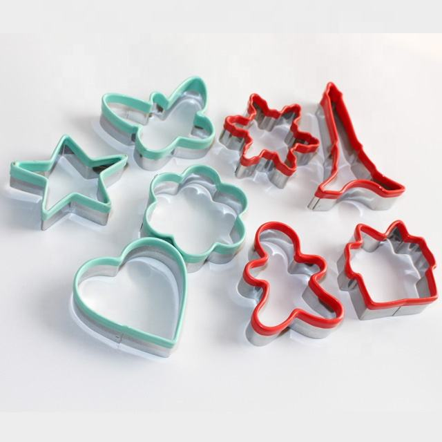 3D Christmas Silicone Metal Custom Stainless Steel Cookie Cutter for Kids
