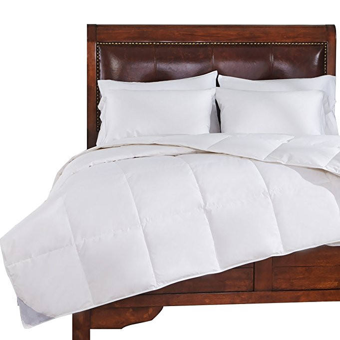 Super Soft Heavy Fill Washed White Goose Down comforter