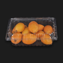 Blister fruit box wtih lid disposable clear plastic custom packaging