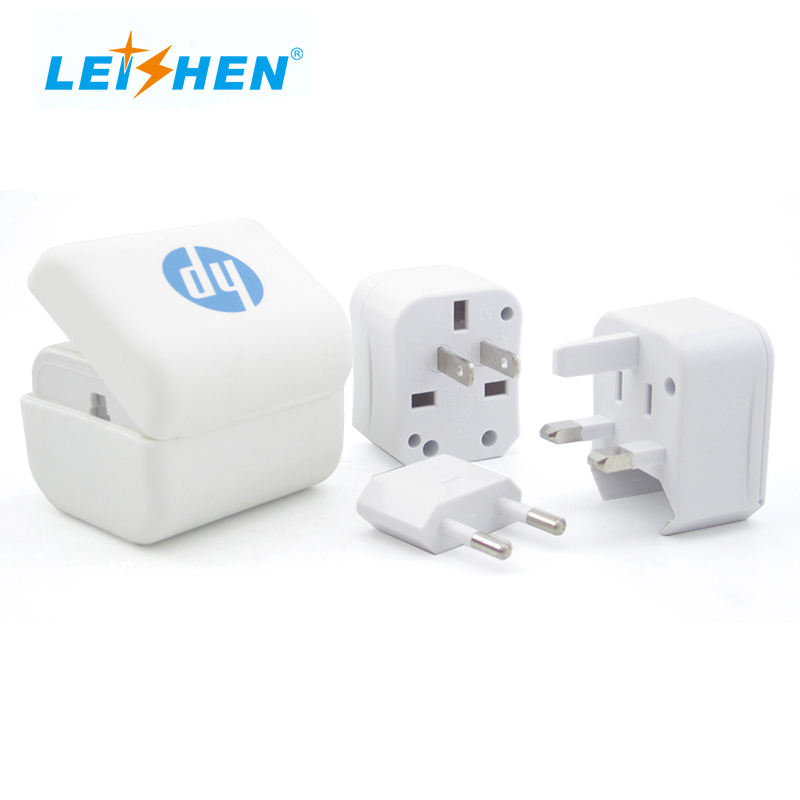 Popular promotional gift items for travel adapter in worldwide with convenient and portable power plug adapter