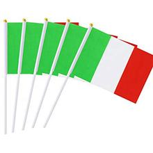 Hot Selling  Custom Digital Printing  Polyester  Italian Hand Flag With Pole