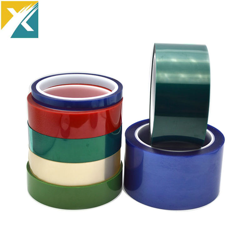 Free Sample Static Powder Coating Masking Polyester Tape Residues Free High Temperature Resistant Silicone Adhesive PET Tape